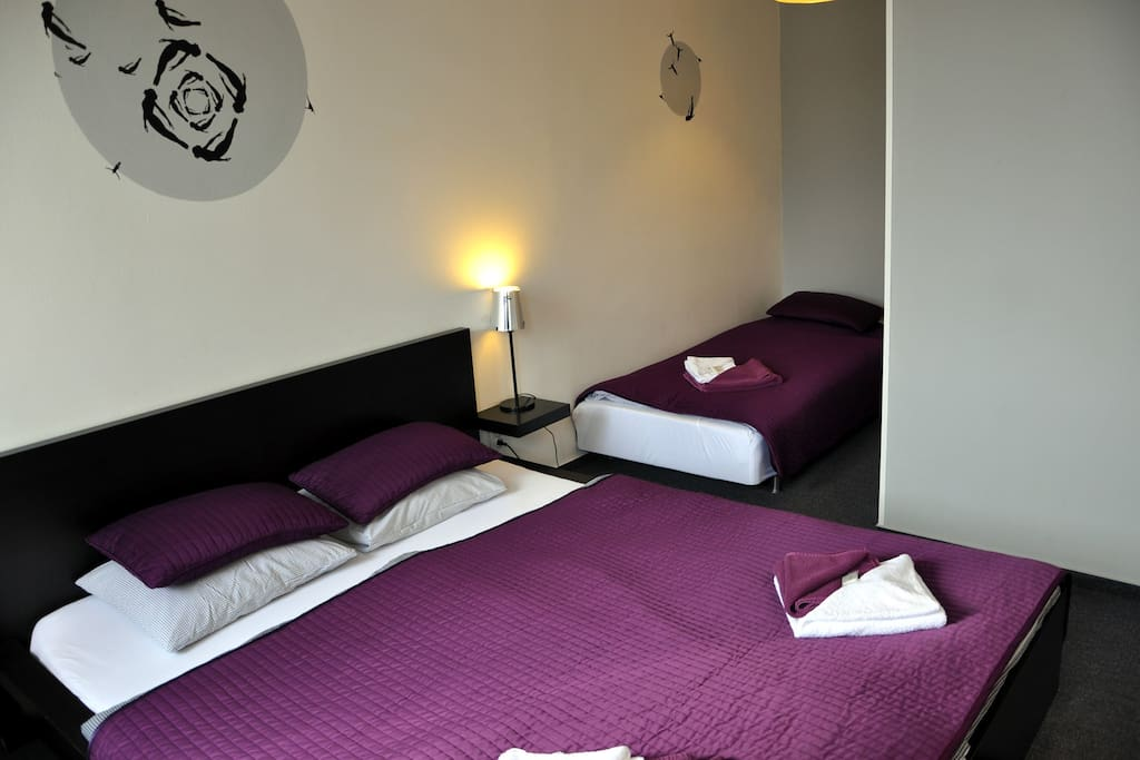 Come to the comfortable guest house in the green neighborhood of the main public transport hub between the Vaclav Havel Airport and Prague Old Town. You will stay in the biggest natural park of Prague and 20 minutes from downtown and airport in the same time.