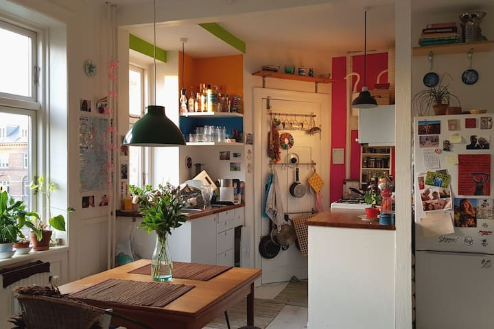 Your bedroom in cosy and colorful home on Nørrebro