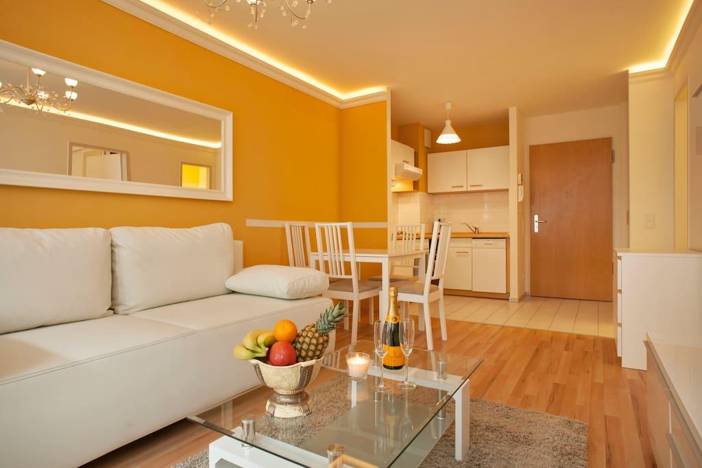 2 habitaciones apartamento en checkpoint charlie3 for Apartamentos en berlin