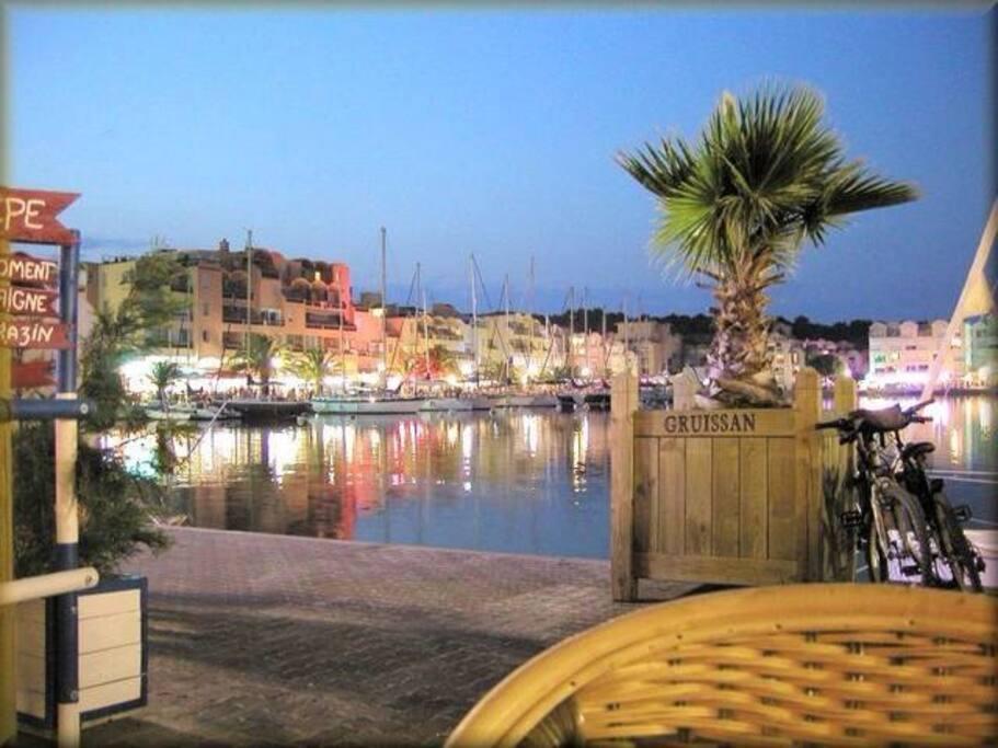 Le magnifique port de Gruissan ou l'on peux flâner et faire la fête ...tres animé et agréable le soir ...incontournable
