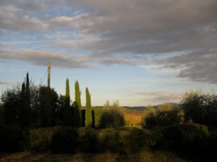amazing sunsets at La Casina farmhouse