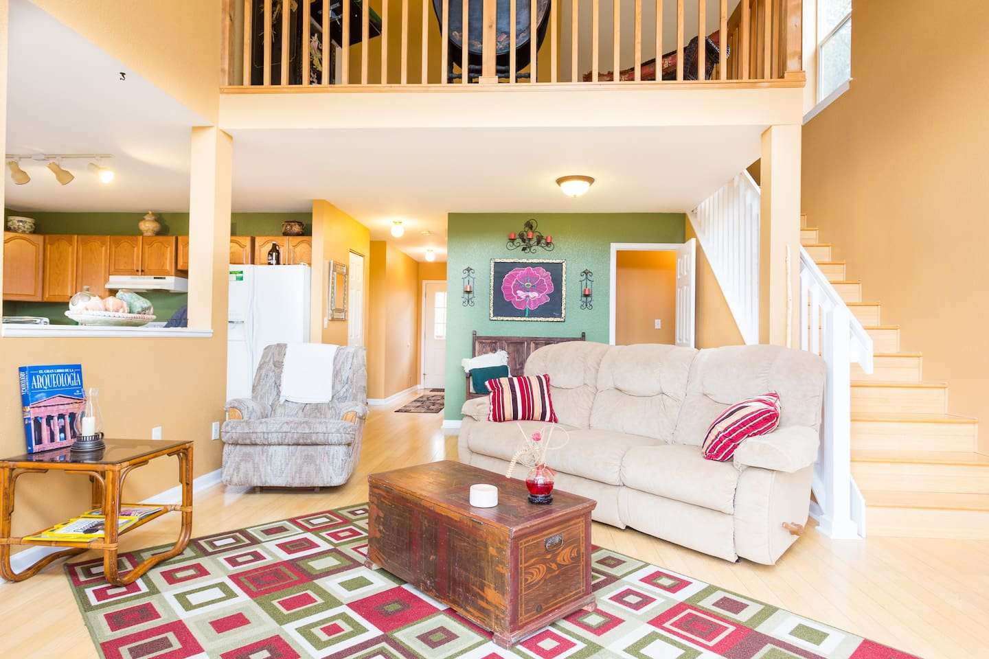 This is our main living room and what makes it special is the amazing view of the mountains.