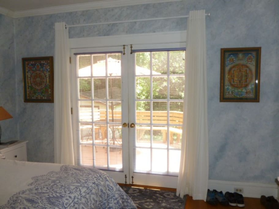 French doors bring in lots of light