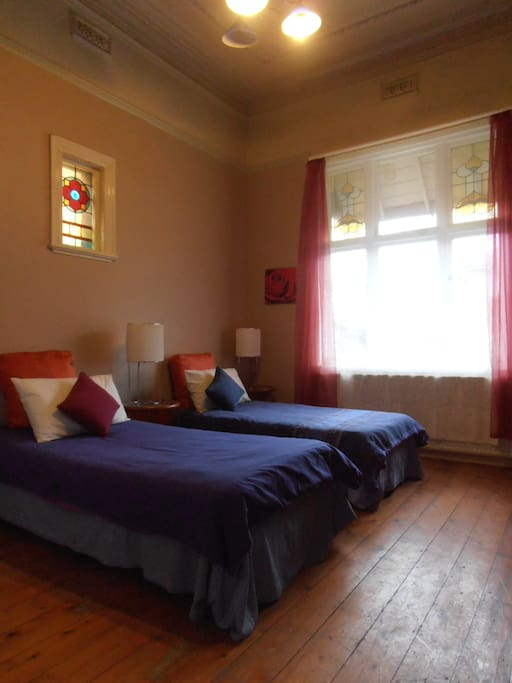 Fully furnished spacious twin room.