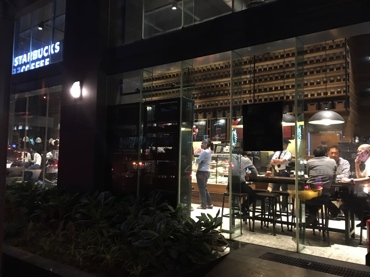 Starbucks Reserve located in the ground floor of the building