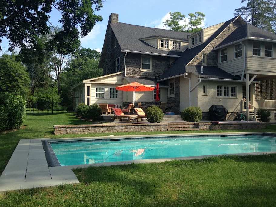 Beautiful heated pool and patio area for relaxing and gathering.