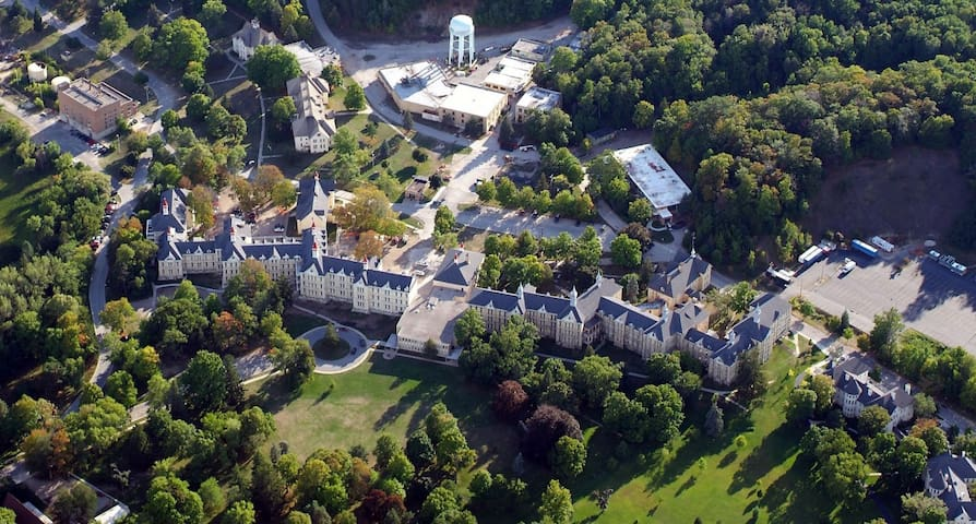 Aerial view of the Grand Traverse Commons