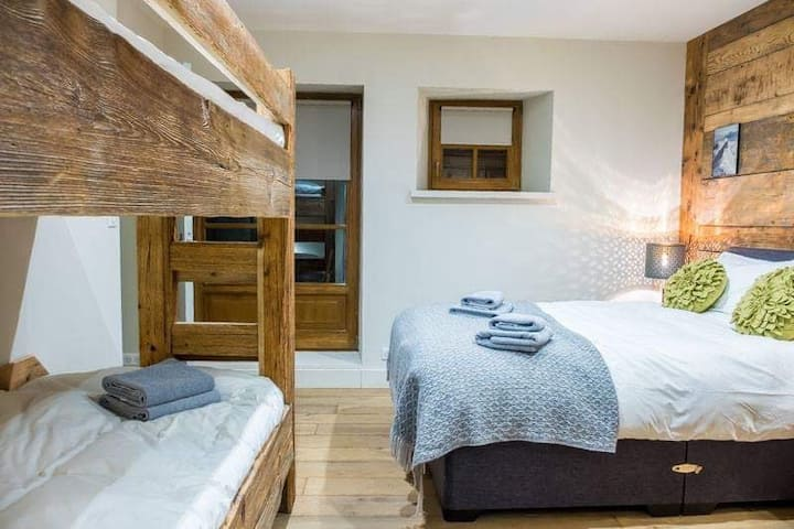 Luxury bunk bedroom in a stunning Chalet