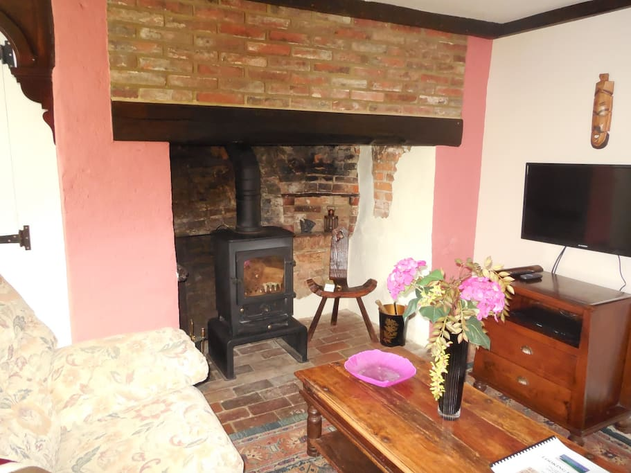 or cozy up with the log burner