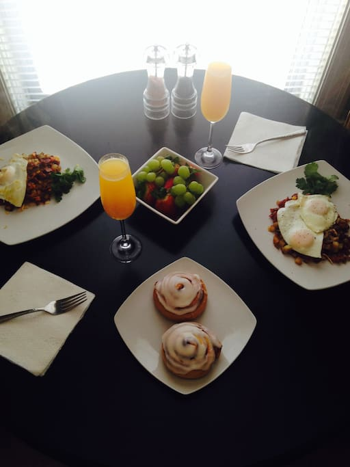 More pics to come. Weekend brunch for 2!