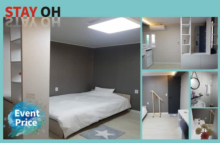 107 모던하우스-숙대전철역 서울역 사이(개인욕실),교통편리 개인독립공간