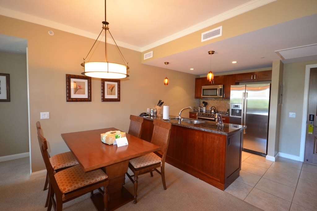 Kitchen and Dining room featuring Bosch Stainless appliances