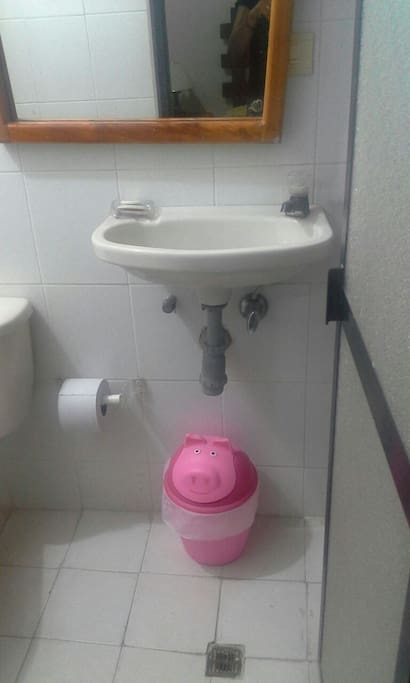 Baño privado del cuarto pequeño