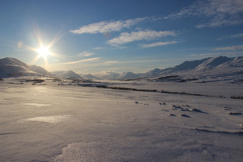 Looking south from Kaupangur - into the Eyjafjordur valley.