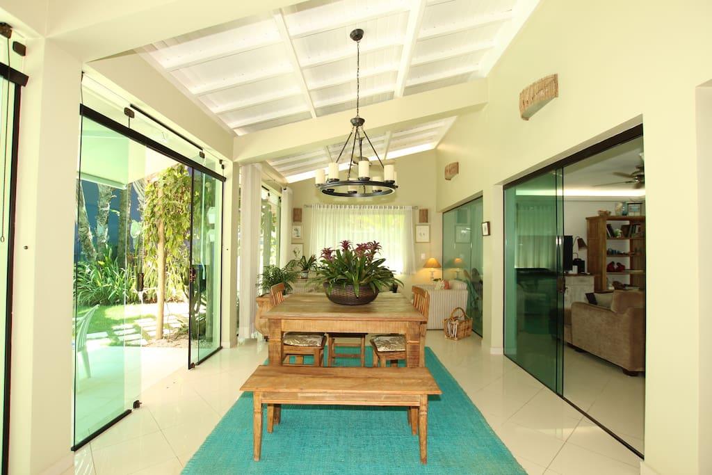 The veranda by the pool