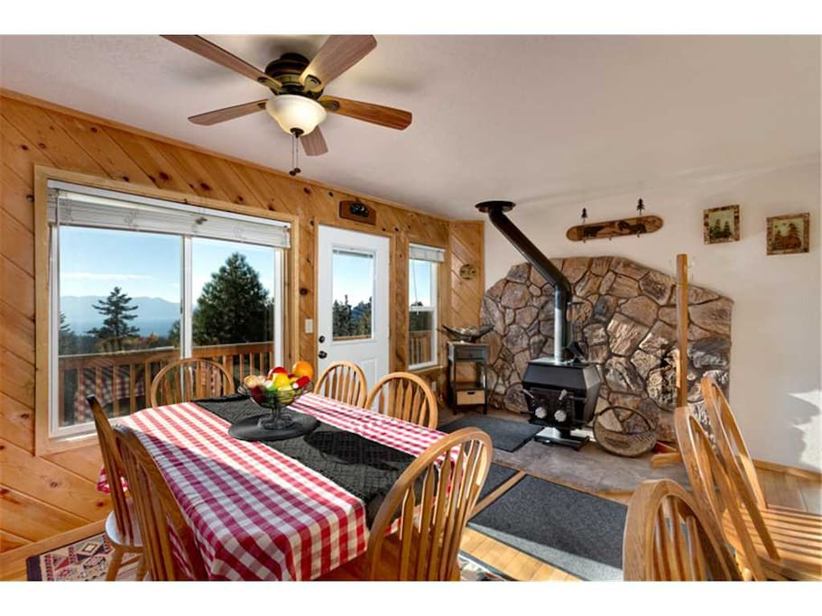 Dining Area & Woodstove