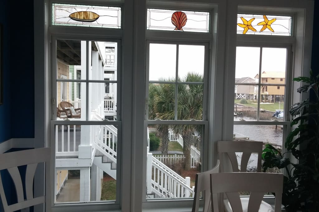 Looking out the dining room windows