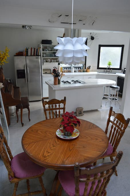 Dining (pull out table sits 8)