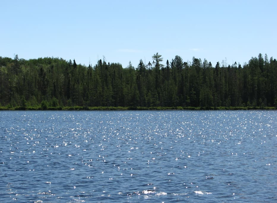 Your own secluded, spring-fed lake.