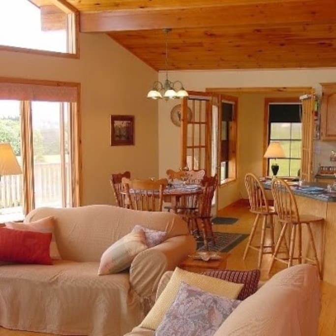 bright and airy great room to enjoy the views