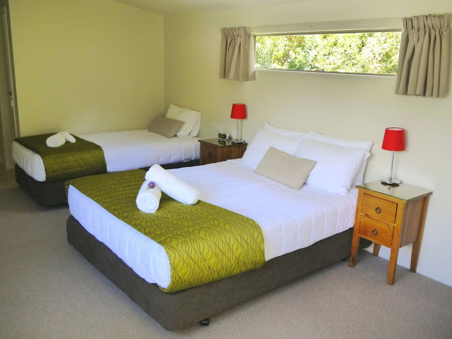 All Cottages offer one queen and one single bed