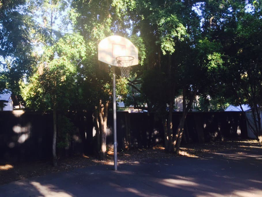 Built-in Basketball Hoop