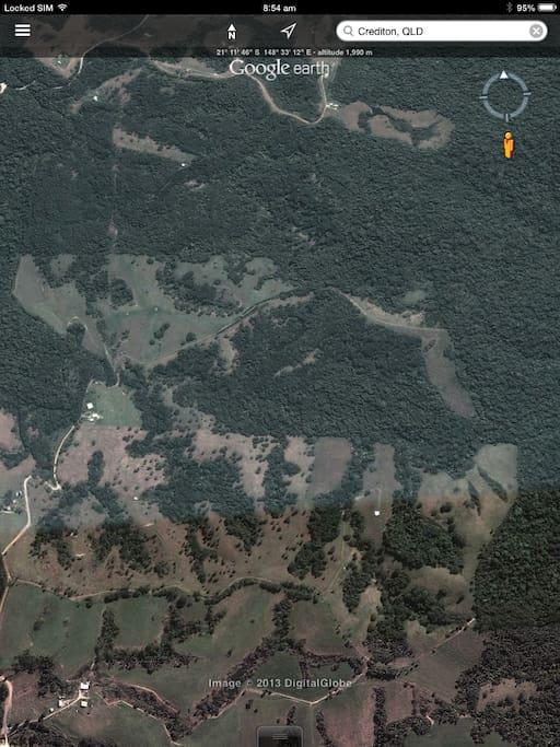 Farm, Lex Creek Nature Refuge rainforest & plantation forestry