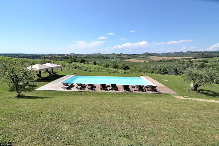Exclusive Villa bw Florence & Siena panoramic Pool - Certaldo