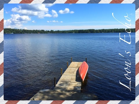 Loon's Echo lakefront w/ JACUZZI, private dock