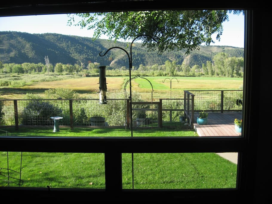 View of the open space from the main living room.
