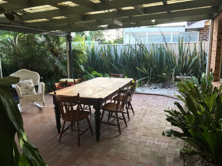 Massive undercover area set in a tropical themed garden with gas BBQ. Sit back relax and jump in the fantastic pool.
