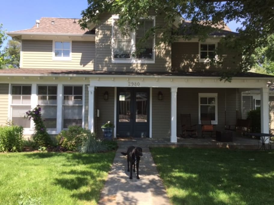 Our home in the summer...dog not included