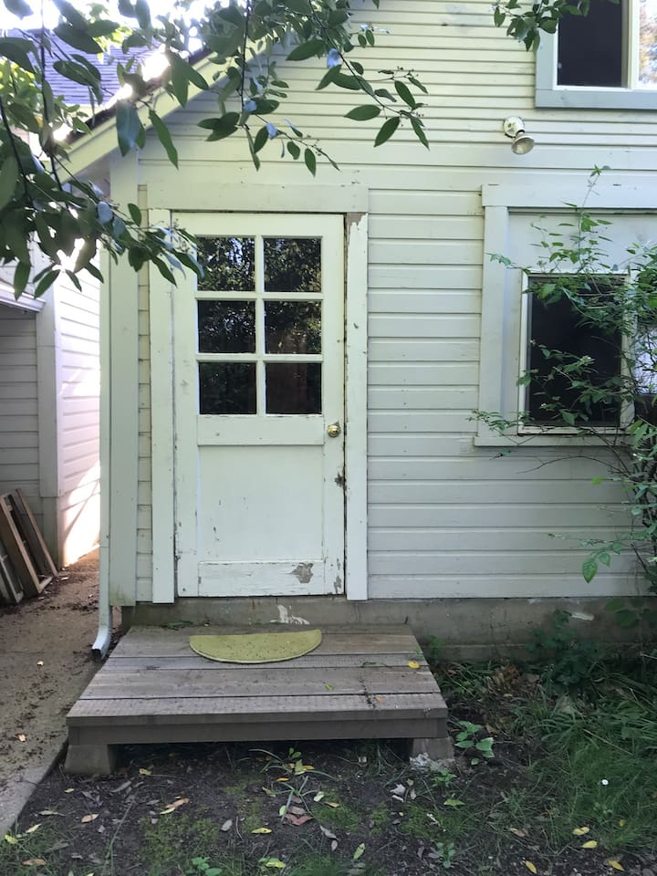 This is the entrance from the backyard or alleyway.