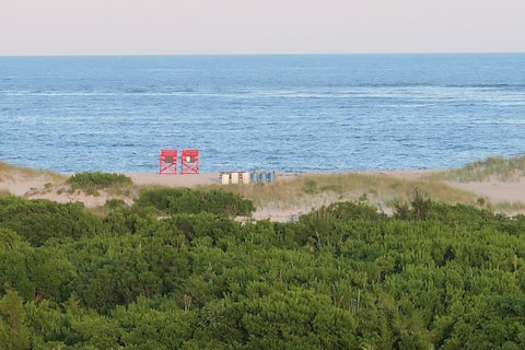Panoramic views ocean, inlet, dunes-heavenly!
