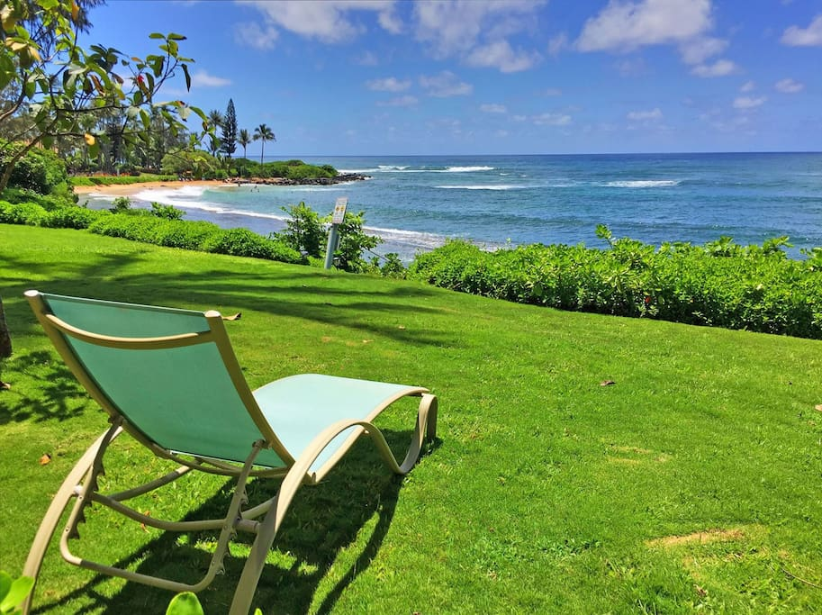 Walk right out across the lawn to the beach, or simply catch the sun while listening to the sounds of the waves breaking