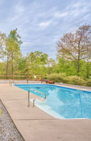 Cool off and relax, 32 feet x 16 feet swimming pool 6 ft. deep end (no diving.)