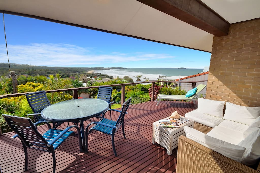 Relax on the balcon and soak up the spectacular views