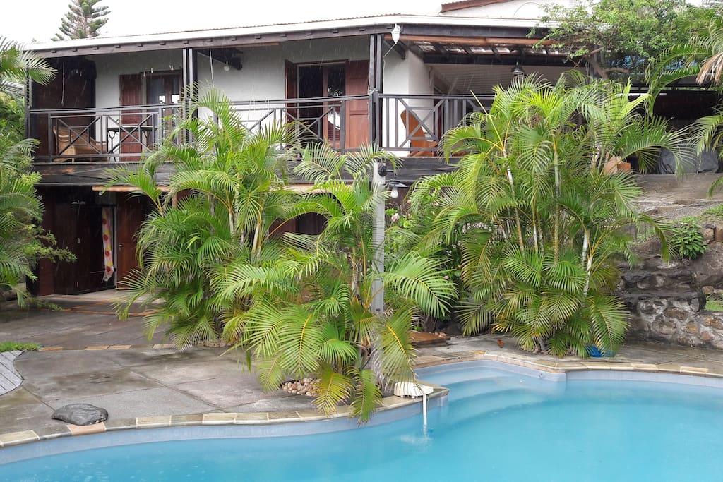 Espace piscine villa