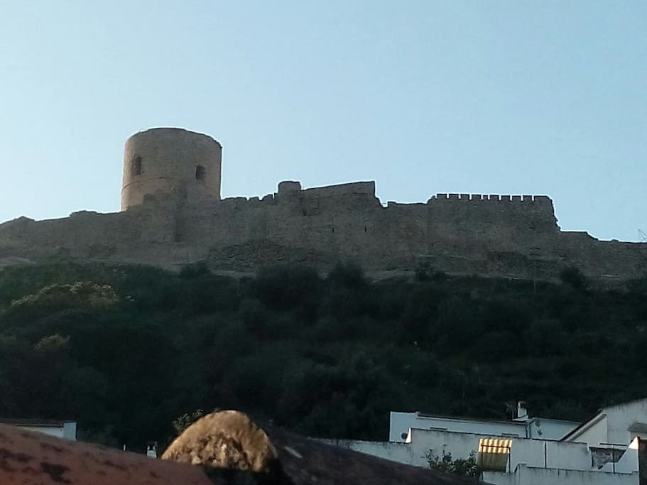 The castle a seen from the terrace