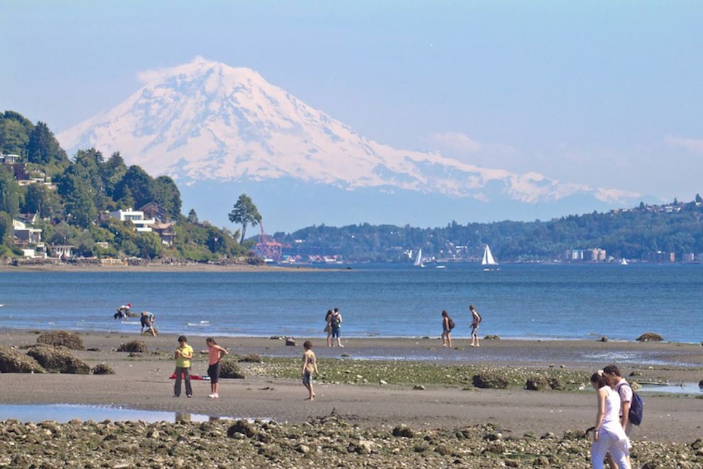 On a clear day you can see Mt. Rainier and a stunning panoramic view of Puget Sound.