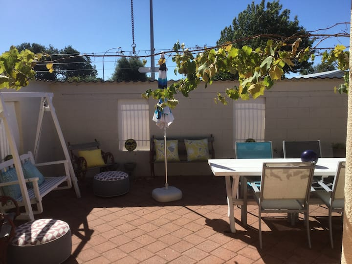 Self contained unit with private courtyard.