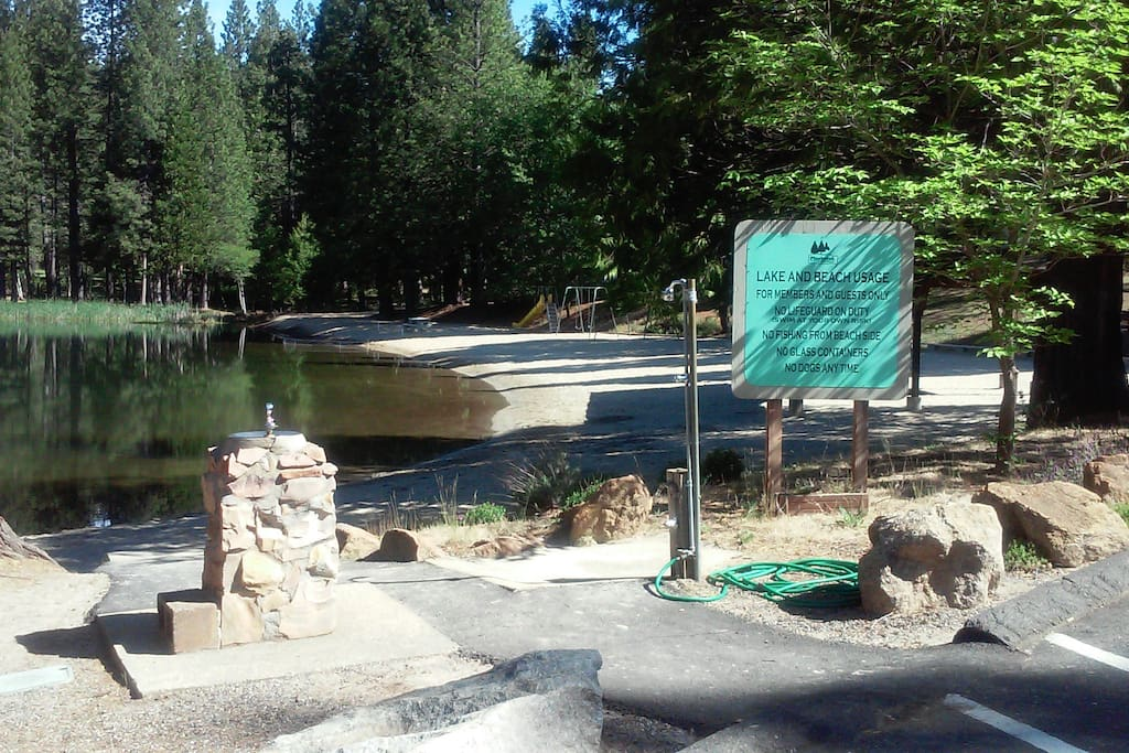 Pinebrook private lake, beach, and picnic area
