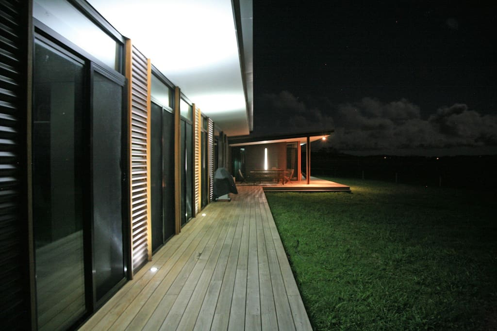 balcony stretches the length of the property