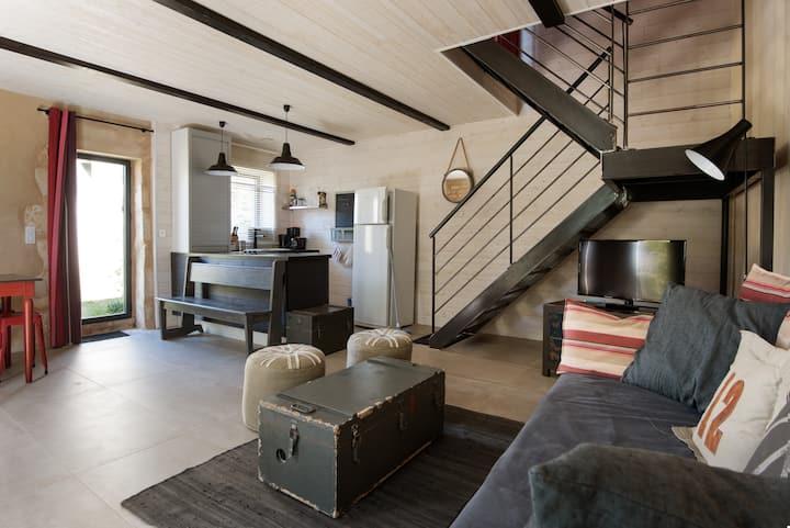 Ancien Chai rénové style loft