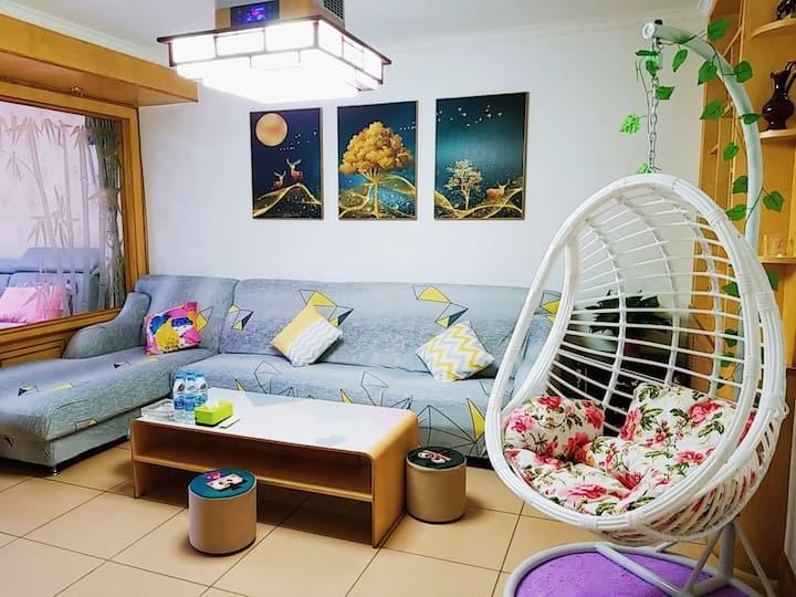 避暑山庄市区干净舒适两居室日租家庭公寓民宿