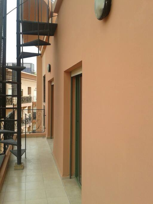 balcon donnant acces au solarium