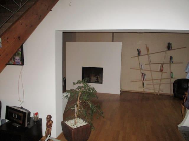 Chambre- maison style loft Valenciennes - Beuvrages - Huis