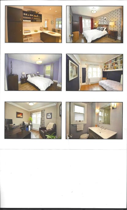 A. Kitchen B.Master Bedroom North. C. Master Bedroom South. D. 3rd Bedroom. E. 4th Bedroom F. 2nd Floor Bath