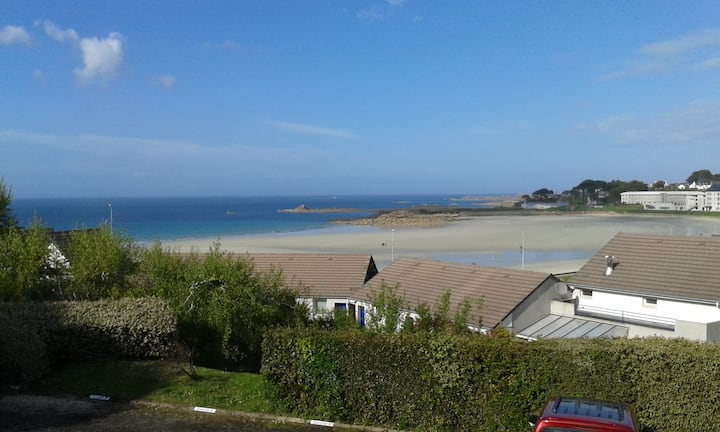 Appartement plain-pied, 50 m plage, wifi