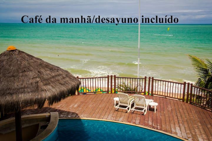 Flat 2 quartos na praia com café manhã incluído - Natal - Apartment